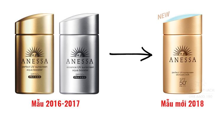Kem chống nắng Shiseido Anessa dạng sữa phiên bản 2018
