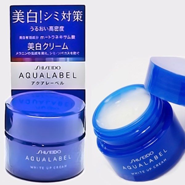 shiseido-aqualabel-white-up-cream-xanh