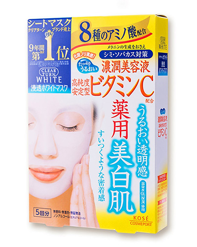 Mặt nạ Kose Clear Turn White Mask (Vitamin C)