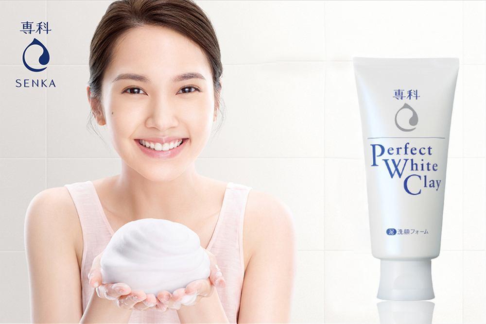 Sữa rửa mặt đất sét trắng Shiseido Perfect White Clay