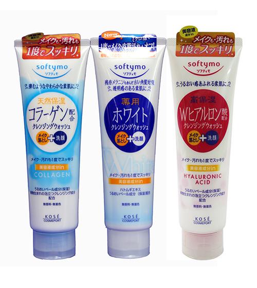 Sữa rửa mặt Kose Softymo Cleansing Wash 190g Nhật Bản