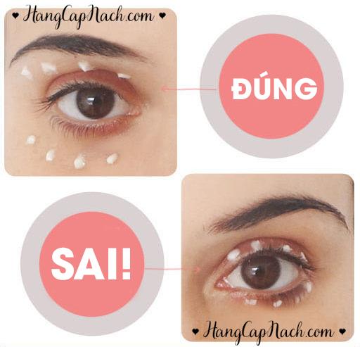 Cách bôi kem dưỡng mắt đúng cách