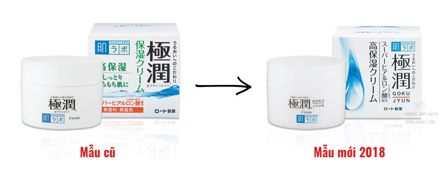 Kem dưỡng Hada Labo Gokujyun Hyaluronic Cream mẫu 2018
