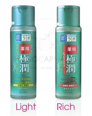 Nước hoa hồng Hada Labo Gokujyun Skin Conditioner cho da mụn