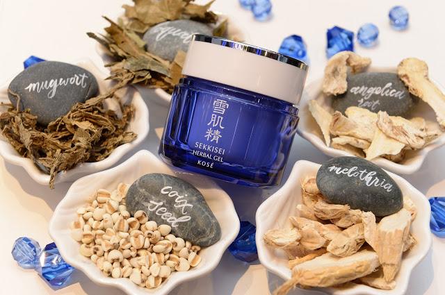 Thành phần thảo dược của Kose Sekkisei Herbal Gel