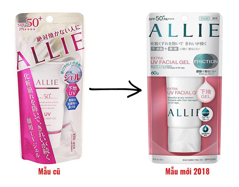 Kem chống nắng Kanebo Allie Extra UV Facial Gel phiên bản 2018