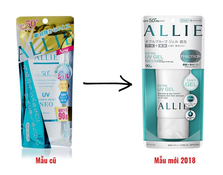 Kem chống nắng Kanebo Allie Extra UV Gel phiên bản 2018