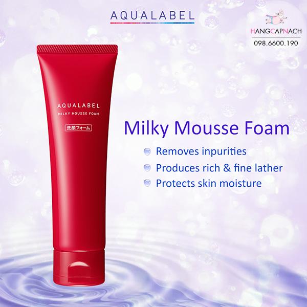 Sữa rửa mặt Shiseido Aqualabel Milky Mousse Foam