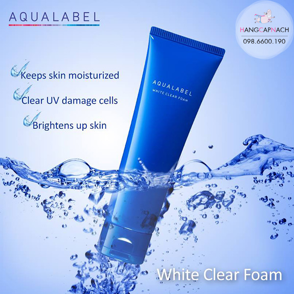 Sữa rửa mặt Shiseido Aqualabel White Clear Foam