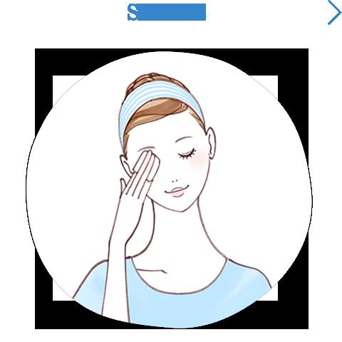 Bước 2: làm sạch vùng mắt môi trước