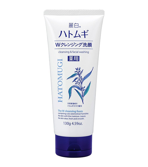 Sữa rửa mặt ý dĩ Hatomugi W Cleansing Foam