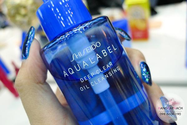 Dầu tẩy trang Shiseido Aqualabel màu xanh