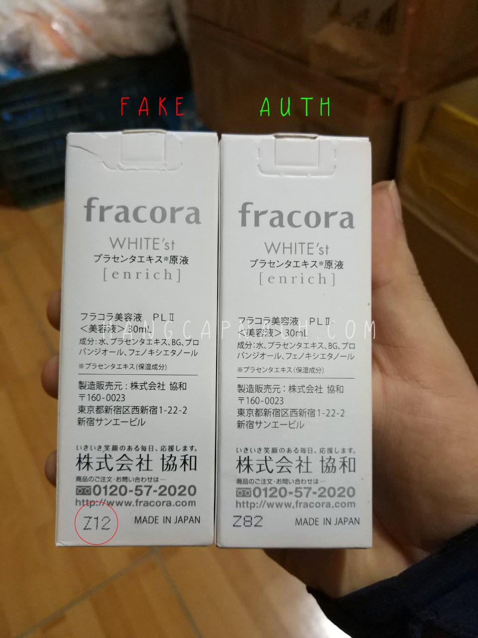 Fracora Enrich fake 2